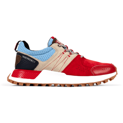 SNKR Project duane red tan blue sneakers red TheDrop