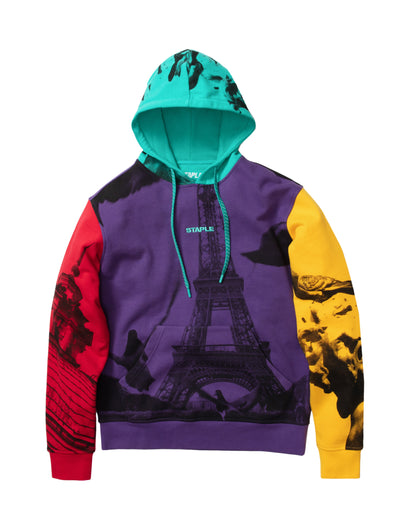 Staple Pigeon world collage photo hoodie 2001h5795 pur staple purple TheDrop