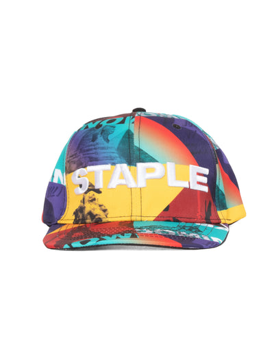 Staple Pigeon world collage snapback 2001x5923 mlt staple multi TheDrop