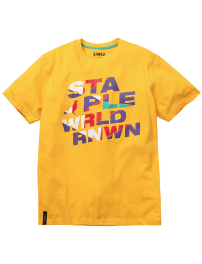 Staple Pigeon world logo tee 2001c5802 mng tees yellow TheDrop