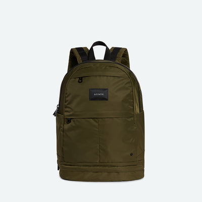 STATE Bags lenox with shoe pocket backpack nylon olive backpacks bags luggage green TheDrop