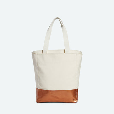 STATE Bags wellington north south tote cotton canvas natural copper dip tote bags TheDrop