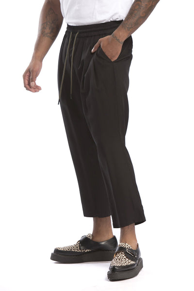 STUDIO CANDOR ankle pant black pants and joggers black TheDrop