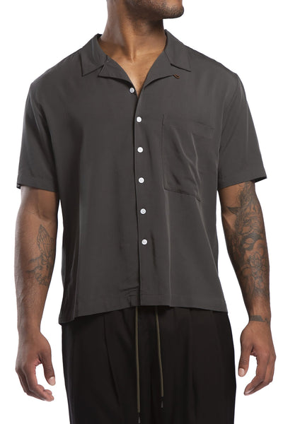 STUDIO CANDOR bascc lounge shirt charcoal candor official TheDrop