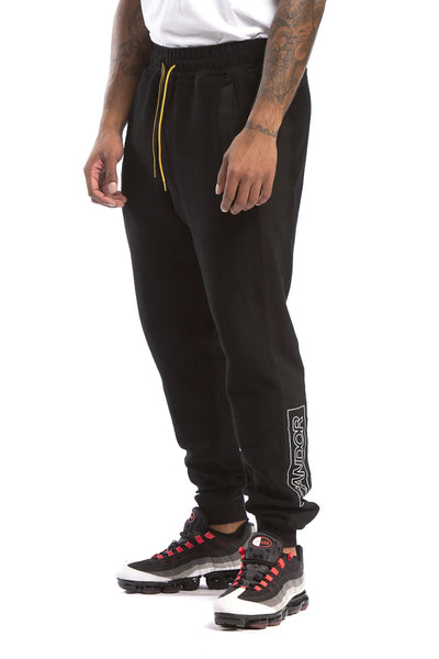 STUDIO CANDOR bhone sweatpant black pants and joggers black TheDrop