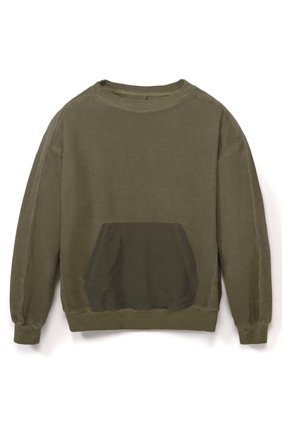 STUDIO CANDOR hewitt sweatshirt olive hoodies and crewnecks green TheDrop