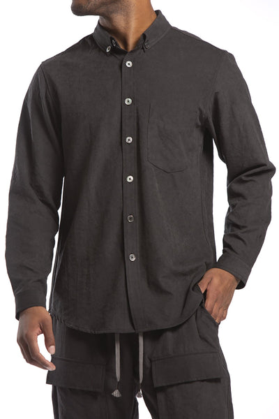 STUDIO CANDOR mesquit buttondown black candor official black TheDrop