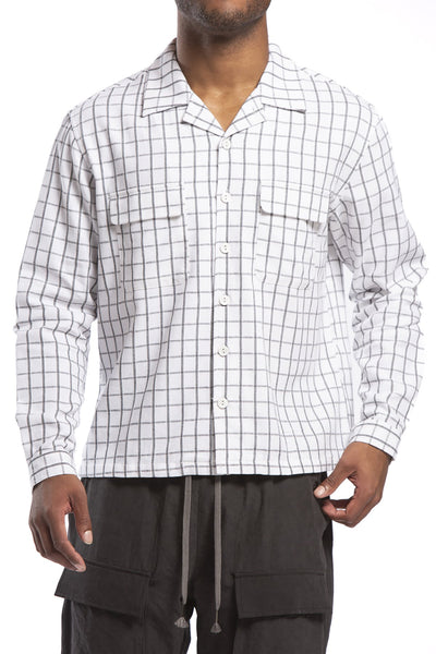 STUDIO CANDOR mullins board shirt white check candor official TheDrop