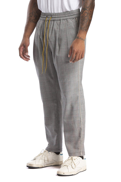 STUDIO CANDOR rossmoor pant grey check pants and joggers TheDrop