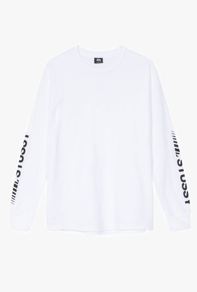 Stussy champion ls tee tees white TheDrop