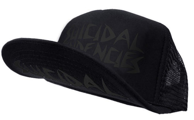 Suicidal Tendencies og flip hat black print on black hat TheDrop