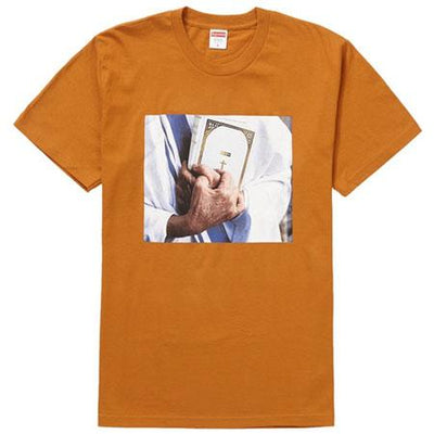 Supreme supreme bible tee burnt orange streetwear official TheDrop