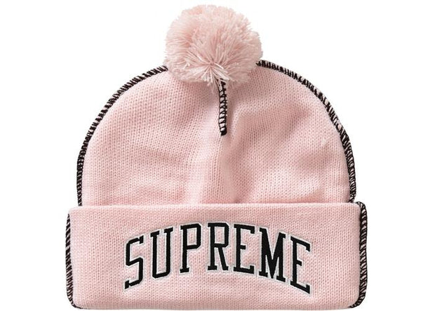Supreme supreme contrast stitch beanie light pink streetwear official TheDrop