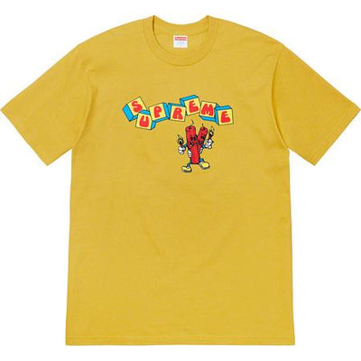 Supreme supreme dynamite tee acid yellow streetwear official TheDrop