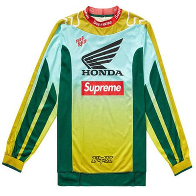 Supreme supreme honda fox racing moto jersey top moss streetwear official green TheDrop