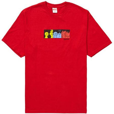 Supreme supreme life tee red streetwear official red TheDrop