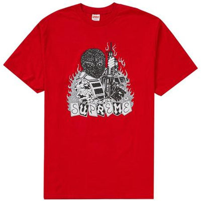 Supreme supreme mercenary tee red streetwear official red TheDrop