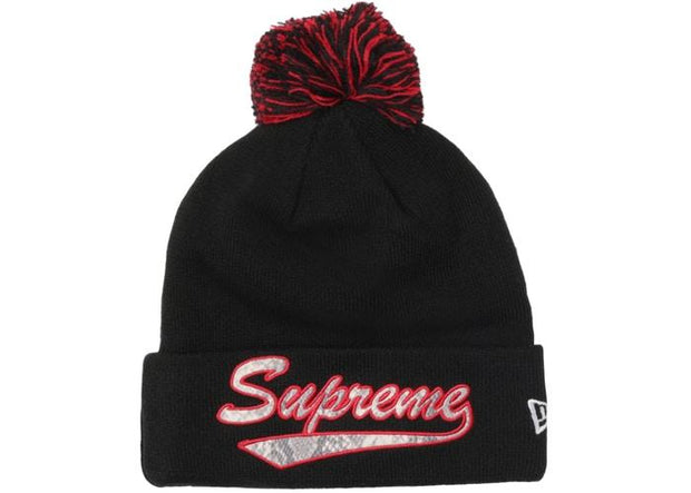 Supreme supreme new era snake script beanie black streetwear official TheDrop
