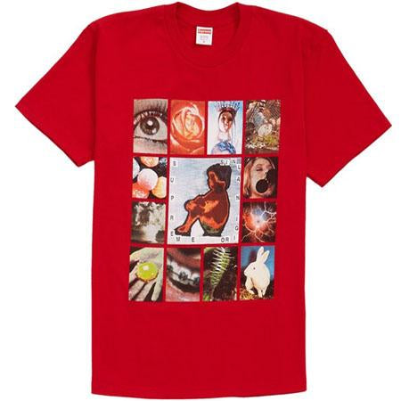 Supreme supreme original sin tee red streetwear official red TheDrop