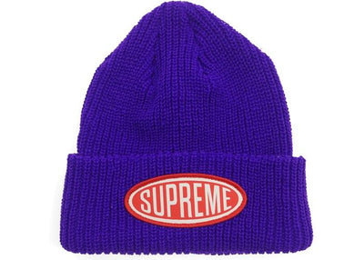 Supreme supreme oval patch beanie purple streetwear official TheDrop