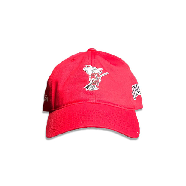 The Lave Gallery lave x unlv rebel dad hat red hats and beanies TheDrop
