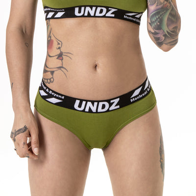 UNDZ green cheeky cotton by undz women undz us TheDrop
