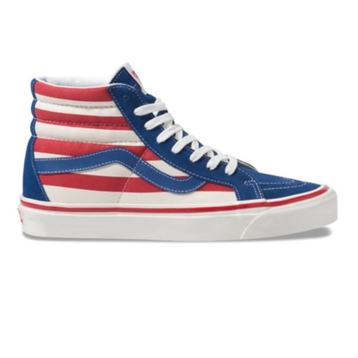 VANS anaheim factory sk8 hi 38 dx og blue 0g red stripes sneakers TheDrop