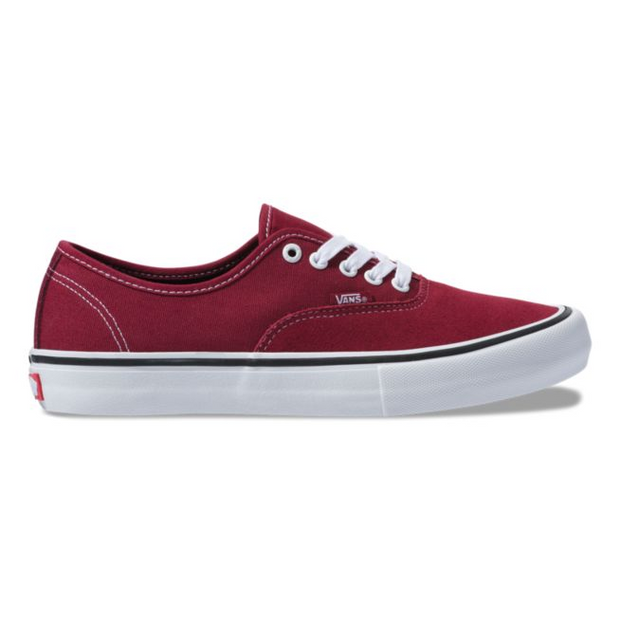 Vans mens authentic pro rumba red port royal sneakers red TheDrop