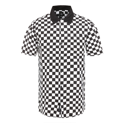 VANS vans checker camp button up tees TheDrop