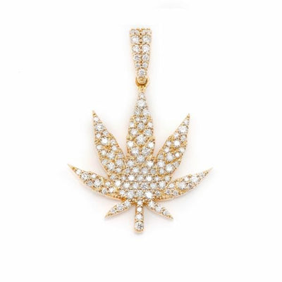 VESSO diamond weed leaf necklace jewelry TheDrop