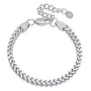 VESSO franco bracelet white gold jewelry white gold TheDrop