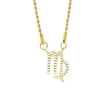 VESSO virgo necklace jewelry gold TheDrop
