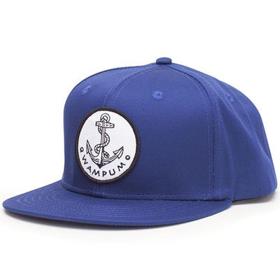 Wampum anchor snapback hat black navy snapbacks navy TheDrop