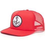 Wampum anchor trucker hat red snapbacks red TheDrop