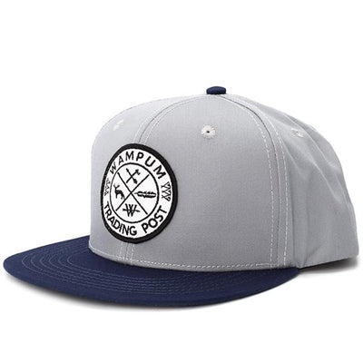 Wampum trading post snapback hat gray and navy snapbacks navy TheDrop