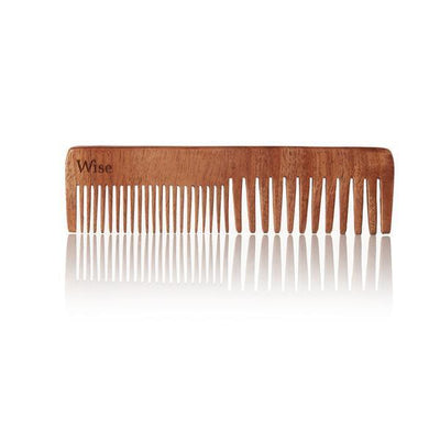Wise Men s Care wise neem wood comb wolf s head TheDrop