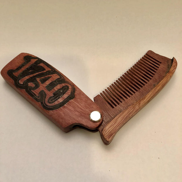 1740 Beard Balm folding wooden comb hair products and accessories TheDrop