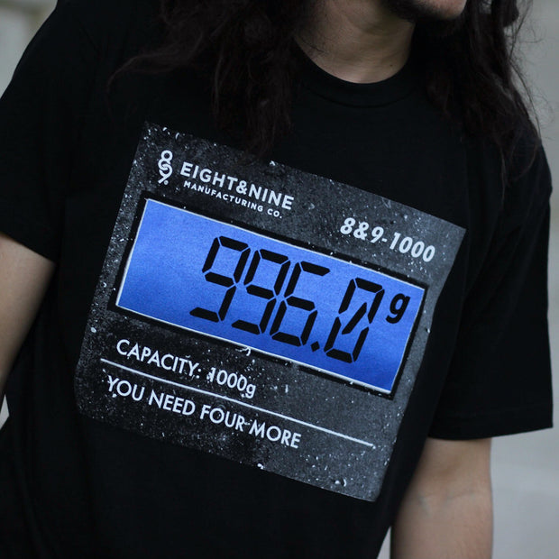 8 9 MFG Co. 996 grams t shirt black tees TheDrop