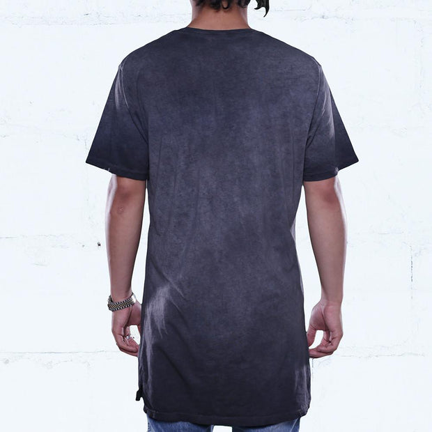 8 9 MFG Co. black antique wash elongated t shirt tees TheDrop