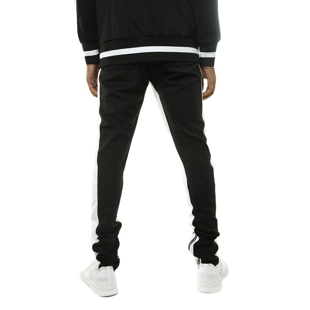 8 9 MFG Co. bones double strip track pants black pants and joggers TheDrop