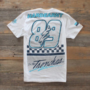 8 9 MFG Co. midnight navy jordan 5 shirt hardearnt hornets tees white TheDrop