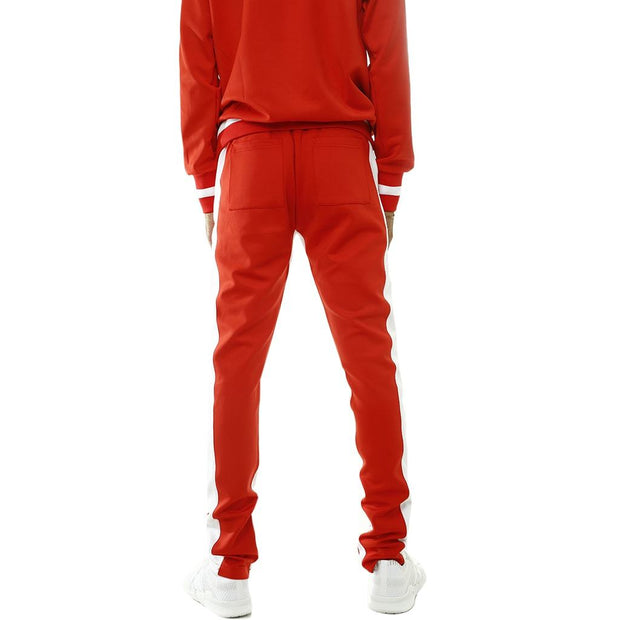8 9 MFG Co. own the team double stripe track pant red pants and joggers TheDrop