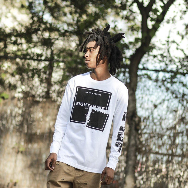 8 9 MFG Co. quatro ls tee white tees TheDrop