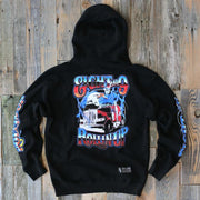 8 9 MFG Co. rollin up hooded sweatshirt black jackets and outerwear TheDrop