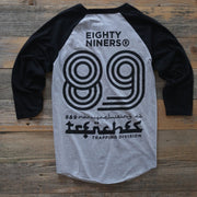 8 9 MFG Co. trap division 3 4 raglan tee cement tees TheDrop