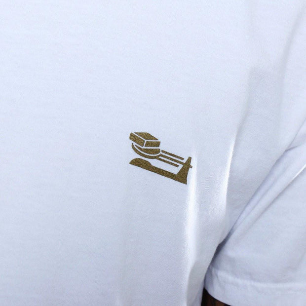 8 9 MFG Co. triple beam long line t shirt white tees TheDrop