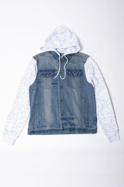 Brooklyn Cloth space dye print sleeve denim jacket jackets and outerwear TheDrop