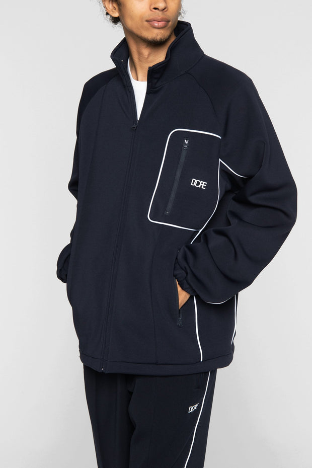DOPE clubhouse track jacket navy jackets and outerwear navy TheDrop