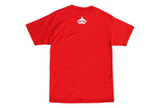 Fitted HI kalai wa a tee red wht the lave gallery TheDrop