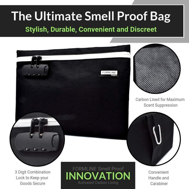 21dea031f1a3 Formline Supply Large Smell Proof Bag with Combination Lock (12